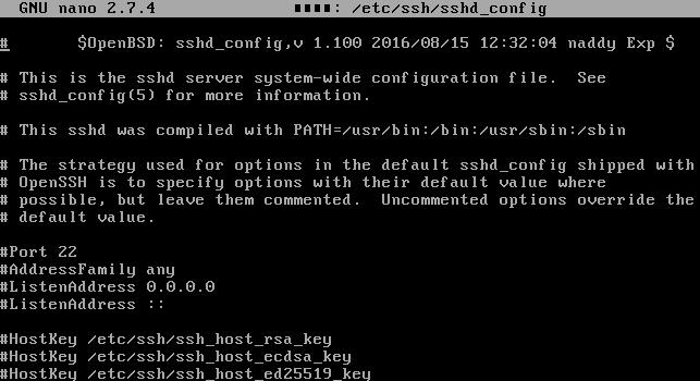 Файл конфигурации SSH