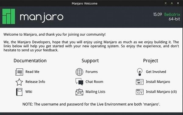 Вышло обновление Linux Manjaro 15.09 (Bellatrix)